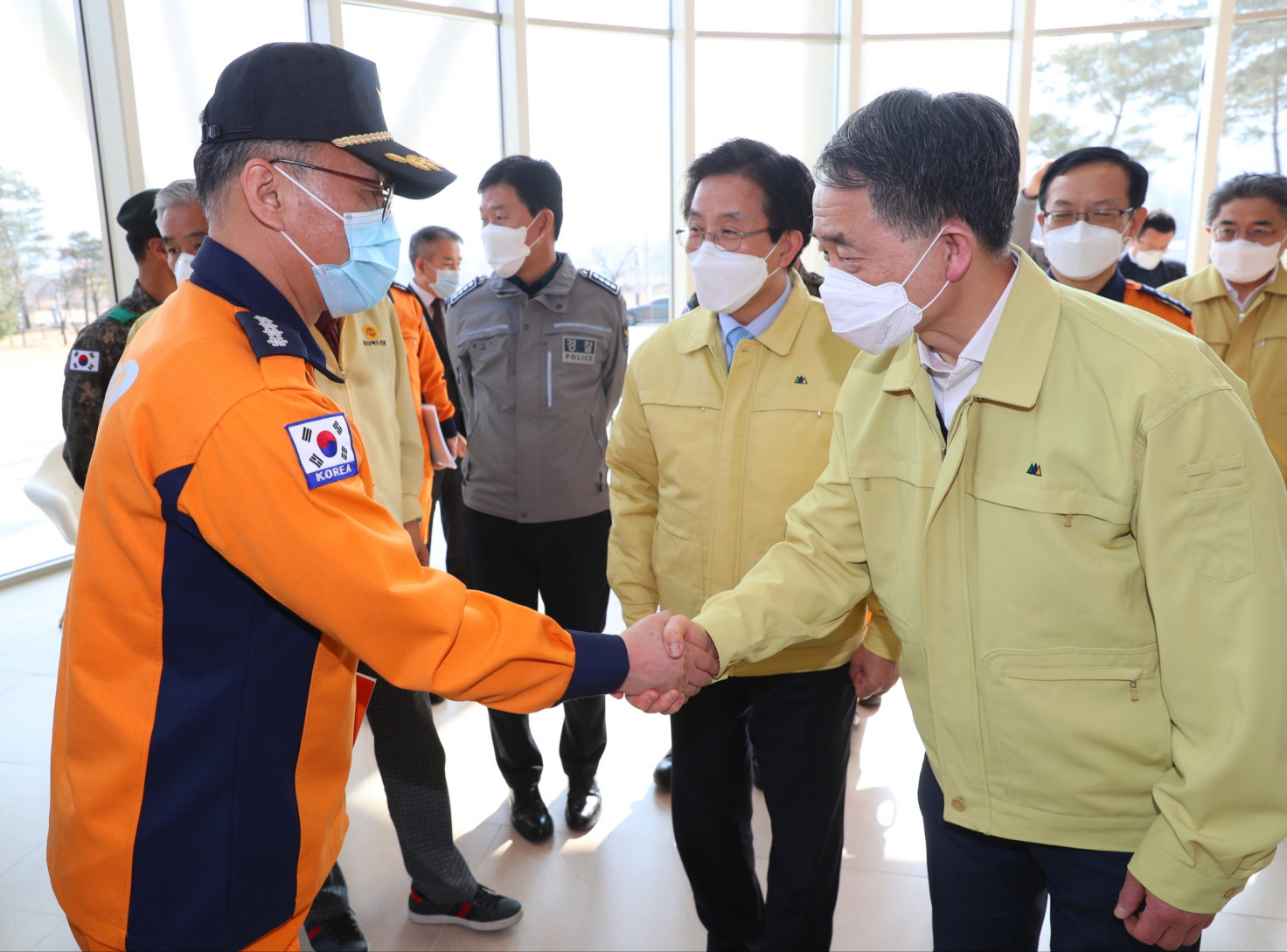 Park Neung-hoo, Vice Head 1 of the Central Disaster and Safety Countermeasures Headquarters, Attends the Opening Ceremony of the Gyeongbuk Daegu 3 Community Treatment Center (Mun-gyeong Seoul National University Hospital Training Center)2