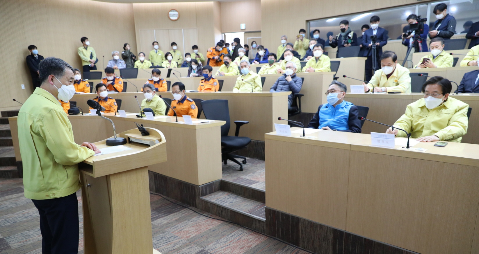 Park Neung-hoo, Vice Head 1 of the Central Disaster and Safety Countermeasures Headquarters, Attends the Opening Ceremony of the Gyeongbuk Daegu 3 Community Treatment Center (Mun-gyeong Seoul National University Hospital Training Center)4