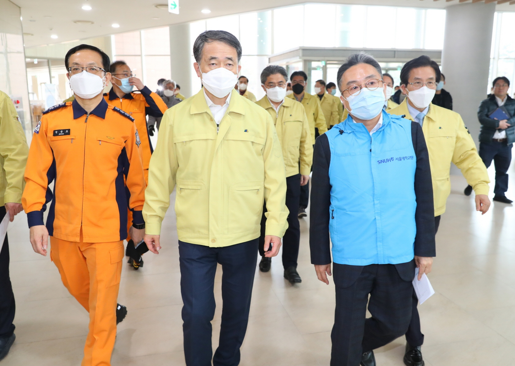 Park Neung-hoo, Vice Head 1 of the Central Disaster and Safety Countermeasures Headquarters, Attends the Opening Ceremony of the Gyeongbuk Daegu 3 Community Treatment Center (Mun-gyeong Seoul National University Hospital Training Center)5
