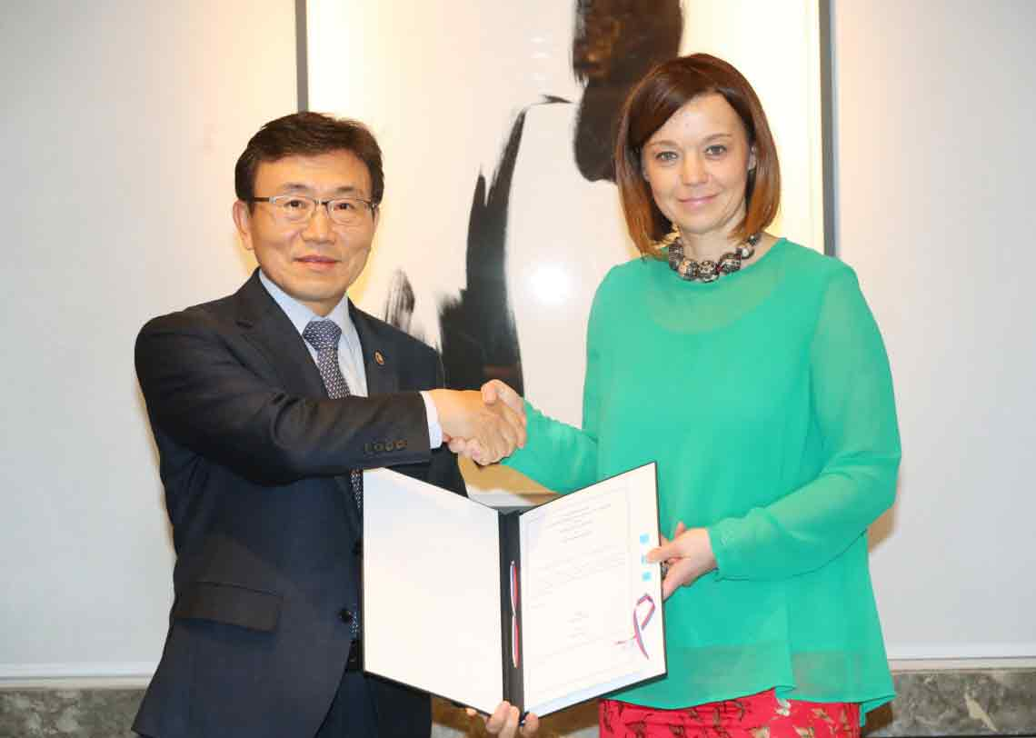 Signing of the Administrative Arrangement of the Korea-Slovenia Agreement on Social Security (April 18, 2019)